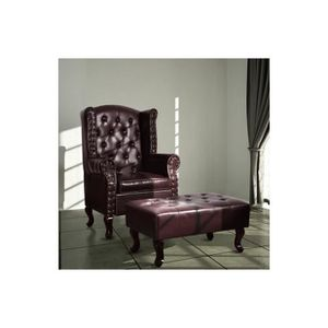 fauteuil chesterfield cuir achat vente fauteuil chesterfield cuir pas cher cdiscount. Black Bedroom Furniture Sets. Home Design Ideas