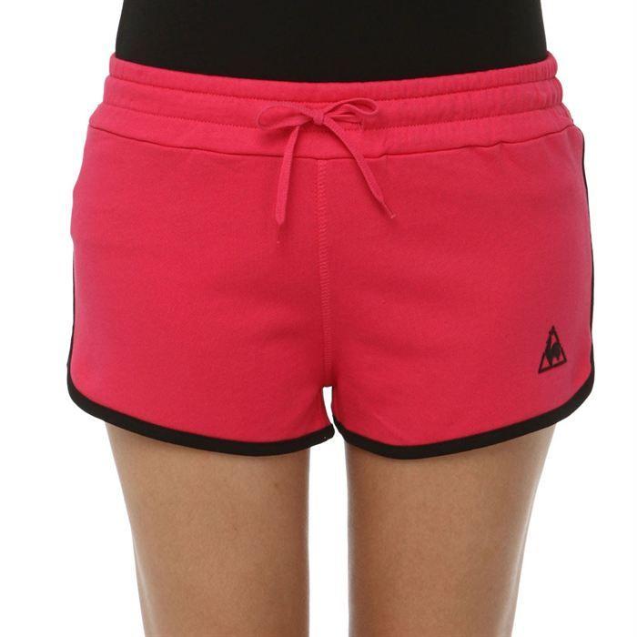 le coq sportif short super shorts femme rose et noir achat vente short bermuda le coq. Black Bedroom Furniture Sets. Home Design Ideas