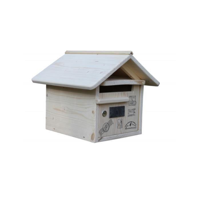 boite aux lettres bois routard 1 porte achat vente. Black Bedroom Furniture Sets. Home Design Ideas
