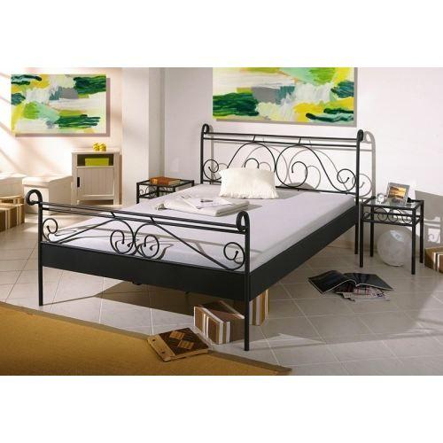lit m tal gina 140 x 190 cm achat vente structure de lit lit m tal gina 140 x 190 cm m tal. Black Bedroom Furniture Sets. Home Design Ideas