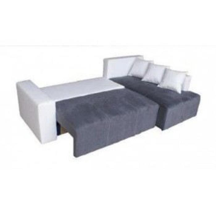 Canap d 39 angle 4 places elton achat vente canap sofa divan pvc - Canape d angle 4 places ...