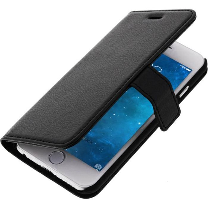 Housse portefeuille apple iphone 6 noir achat housse for Housse portefeuille iphone 6