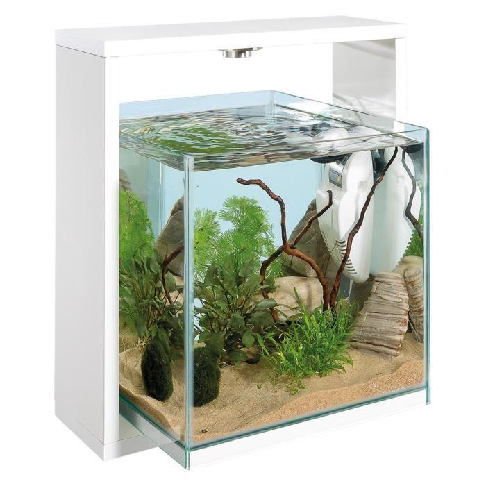 samoa 30 aquarium 25 litres en verre blanc 30 x 38 6 x. Black Bedroom Furniture Sets. Home Design Ideas