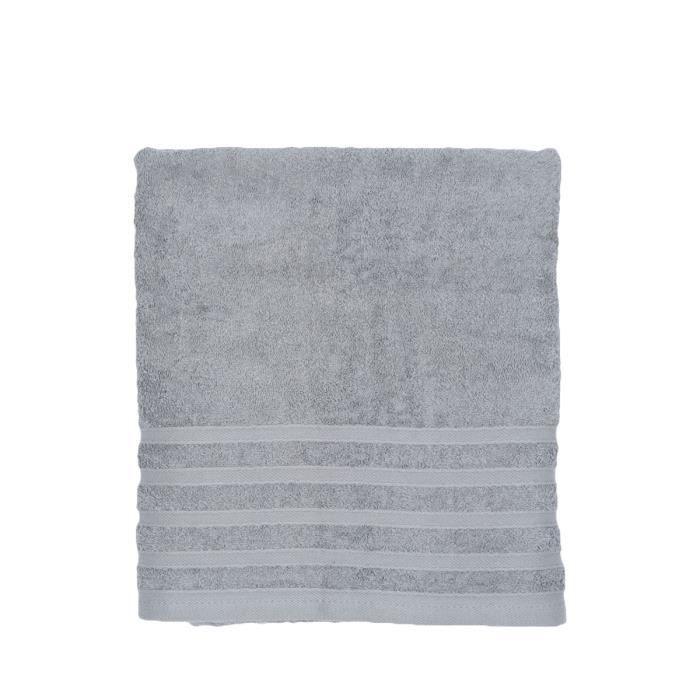 drap de bain gris achat vente serviettes de bain cdiscount. Black Bedroom Furniture Sets. Home Design Ideas