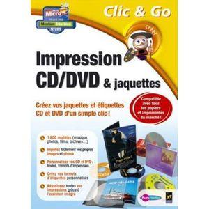 LOGICIEL BUREAUTIQUE  Etiquettes CD-DVD & jaquettes - PC