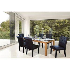 Chaise noire design igloo noir deco originale achat for Lot de 6 chaises de salle a manger