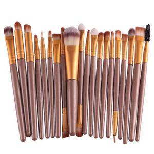 PINCEAUX DE MAQUILLAGE Brun et D'or 20 pcs pinceau de maquillage pour fem