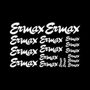 DÉCORATION VÉHICULE 17 stickers ERMAX – BLANC – 60 à 150mm YAMAHA SUZU