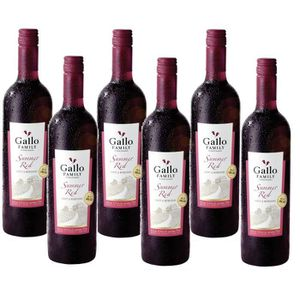 VIN ROUGE Gallo Family Vineyards Summer Red Vin Rouge 6 x 0,