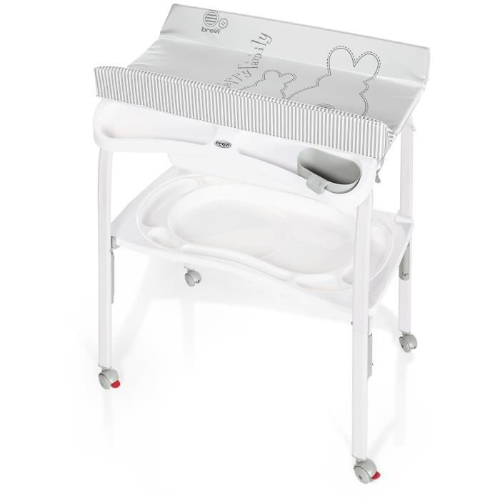 Brevi table langer pliante pratico lapinou perle blanc et gris achat ve - Table a langer cdiscount ...