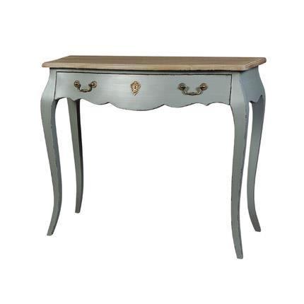 petite console 1 tiroir coloris gris achat vente. Black Bedroom Furniture Sets. Home Design Ideas