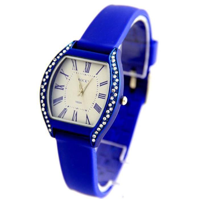 jolie montre femme silicone bleu rocky 309 achat vente montre cadeaux de no l cdiscount. Black Bedroom Furniture Sets. Home Design Ideas