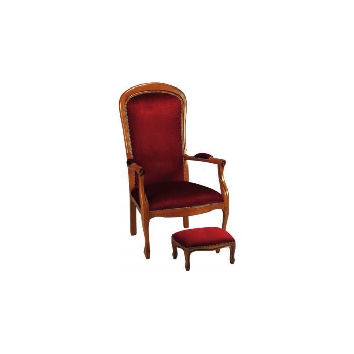 Fauteuils voltaire bordeaux x2 achat vente fauteuil h tre massif velou - Achat fauteuil voltaire ...