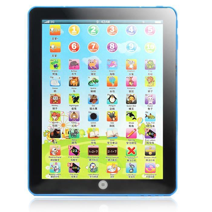 bleu tablette apprentissage enfants ordinateur portable. Black Bedroom Furniture Sets. Home Design Ideas