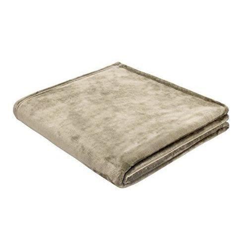 b home biederlack couverture couvre lit 150 x 200 cm bleu arctique shine couverture sable. Black Bedroom Furniture Sets. Home Design Ideas