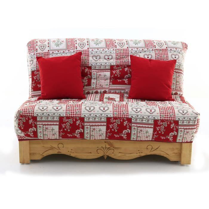 canap convertible bz pin massif sculpt 160 x 200 cm. Black Bedroom Furniture Sets. Home Design Ideas