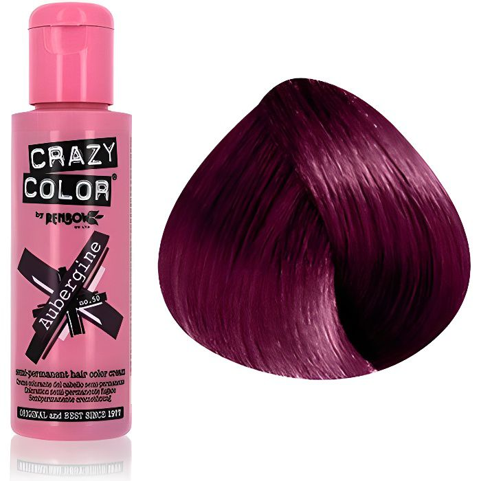 coloration crazy color 100 ml aubergine - Crazy Color Aubergine