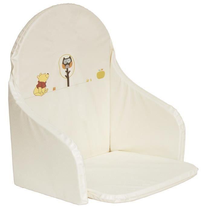Winnie l 39 ourson coussin de chaise blanc cass achat - Rehausseur de chaise winnie l ourson ...