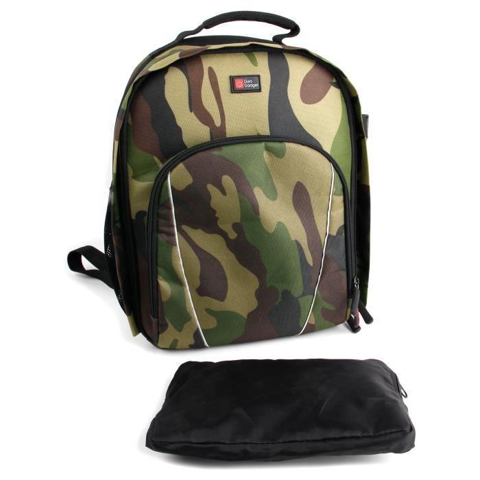 sac dos motif camouflage pour appareil photo num achat. Black Bedroom Furniture Sets. Home Design Ideas