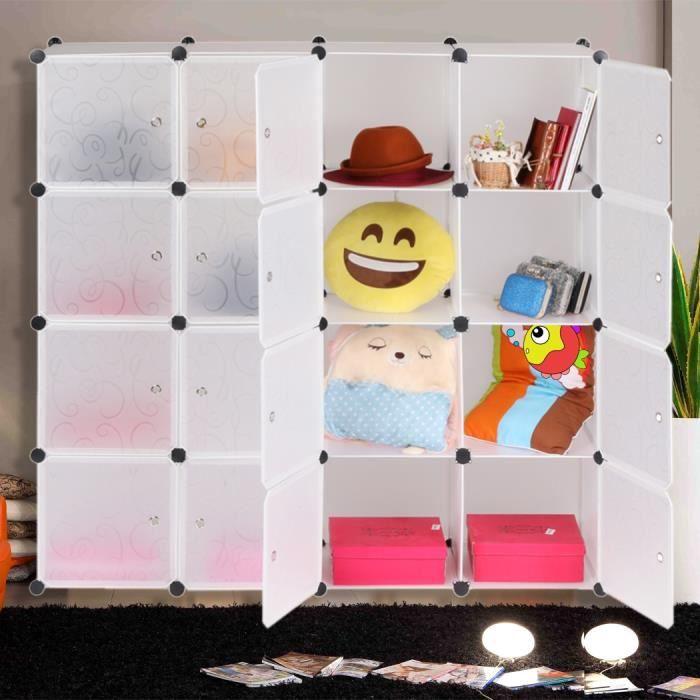 support de rangement 16 cubes organisation placard rangement multifonctionnelle combinaison pour. Black Bedroom Furniture Sets. Home Design Ideas