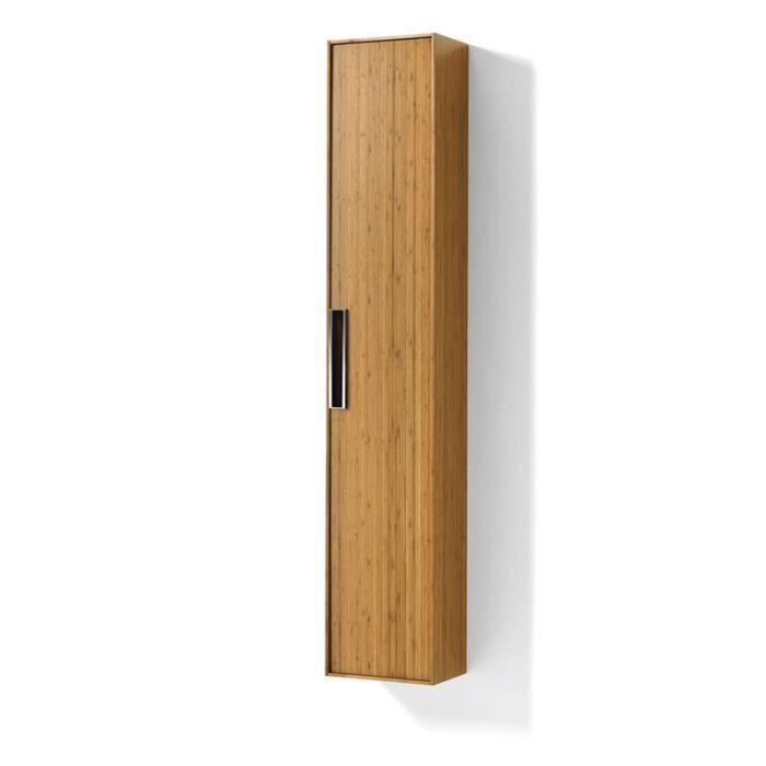 Colonne de rangement 6 tablettes canavera achat vente for Colonne salle de bain en bambou