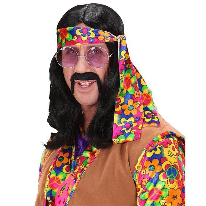 perruque de hippie homme noire achat vente chapeau perruque cdiscount. Black Bedroom Furniture Sets. Home Design Ideas