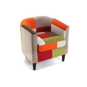 fauteuil multicolore achat vente fauteuil multicolore pas cher soldes cdiscount. Black Bedroom Furniture Sets. Home Design Ideas