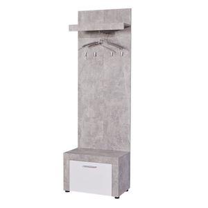 meuble d entree porte manteau blanc achat vente meuble d entree porte manteau blanc pas cher. Black Bedroom Furniture Sets. Home Design Ideas