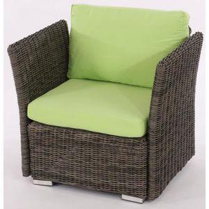 Fauteuil rotin gris achat vente fauteuil rotin gris - Fauteuil de jardin en rotin pas cher ...