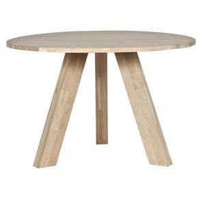 TABLE A MANGER SEULE Table à manger diam.130cm chêne massif, H 76 x L 1
