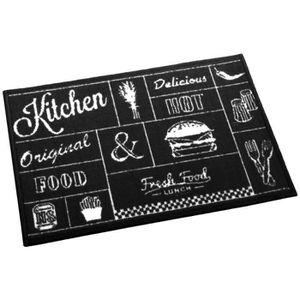 tapis de cuisine noir devant evier achat vente tapis. Black Bedroom Furniture Sets. Home Design Ideas