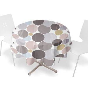 nappe ronde pvc achat vente nappe ronde pvc pas cher les soldes sur cdiscount cdiscount. Black Bedroom Furniture Sets. Home Design Ideas