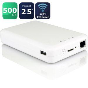DISQUE DUR EXTERNE WeZee Disk 500Go Disque dur externe WiFi