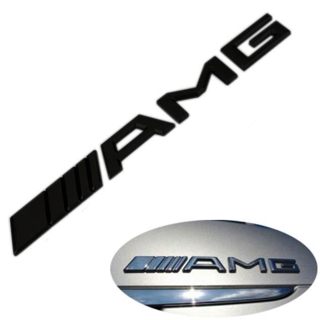 logo badge embleme de coffre amg noir mercedes benz achat vente insigne marque auto logo. Black Bedroom Furniture Sets. Home Design Ideas
