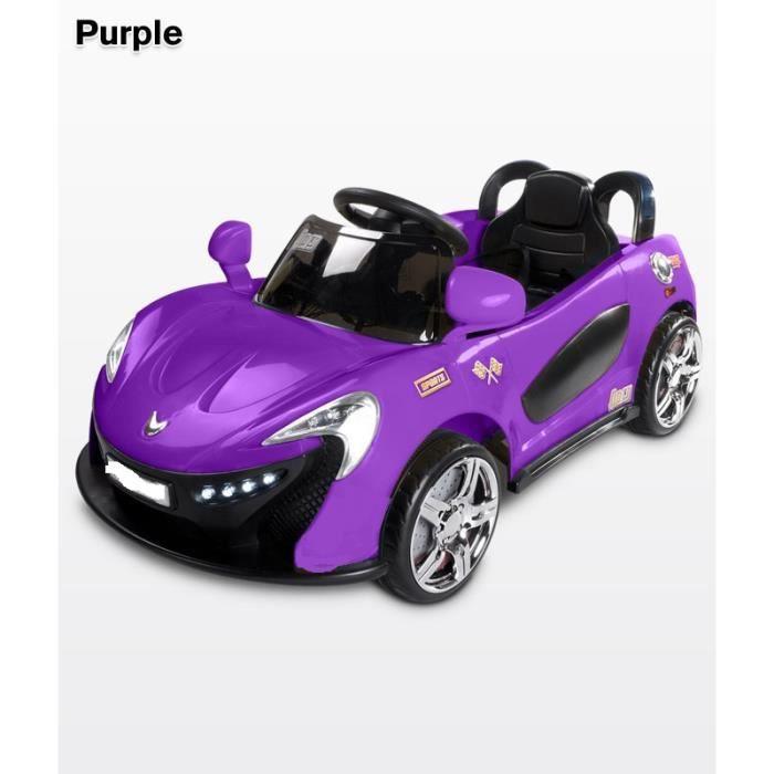 voiture electrique b b enfant purple avec t l commande achat vente voiture enfant cdiscount. Black Bedroom Furniture Sets. Home Design Ideas