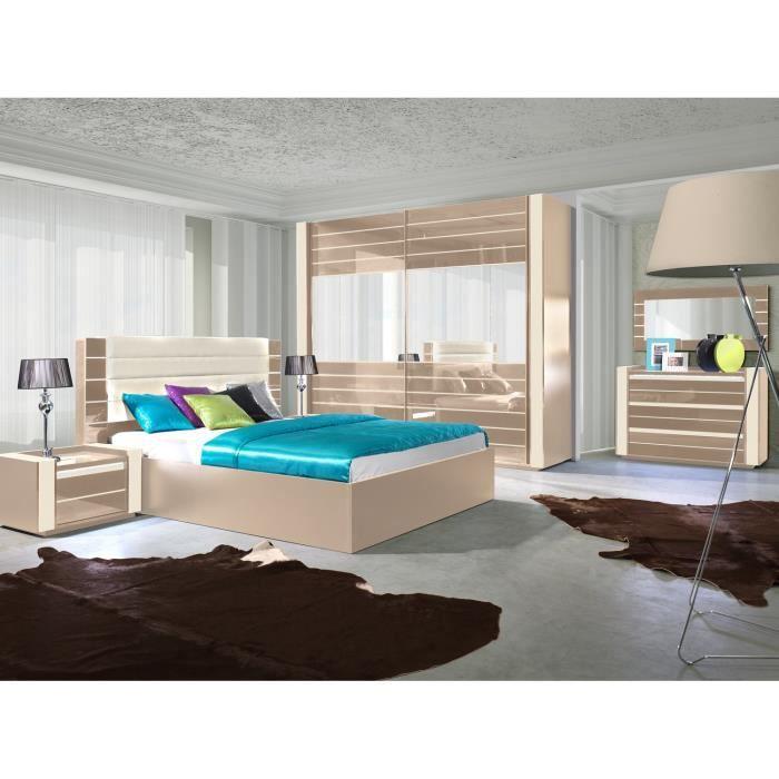 Ensemble design pour chambre coucher lina cappuccino et for Lit pour chambre a coucher