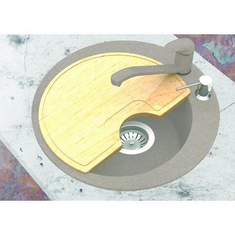Evier rond granit blanc planche a decouper achat for Evier de cuisine rond