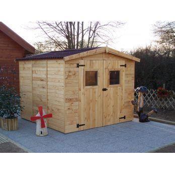 abri de jardin bois panneau 16 mm 7 20 m2 achat vente abri jardin chalet abri de. Black Bedroom Furniture Sets. Home Design Ideas