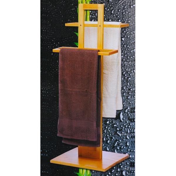 Porte serviettes en bambou achat vente porte serviette - Porte serviette echelle bambou ...