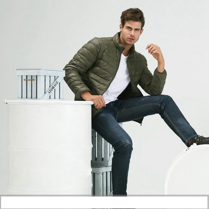 2016 doudoune homme courte grande taille s xxxl veste d 39 automne hiver l ger et mince col montant. Black Bedroom Furniture Sets. Home Design Ideas