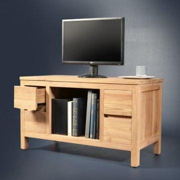 Meuble TV en teck 95 Milano - Achat / Vente meuble tv ...