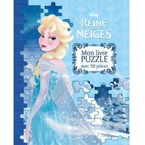 Livre 3-6 ANS La Reine des Neiges : mon livre puzzle avec 50 piè