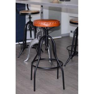 tabouret industriel acier achat vente tabouret industriel acier pas cher soldes cdiscount. Black Bedroom Furniture Sets. Home Design Ideas