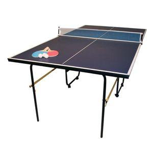 table de ping pong taille 3 4 pour enfant bleu 183 cm. Black Bedroom Furniture Sets. Home Design Ideas