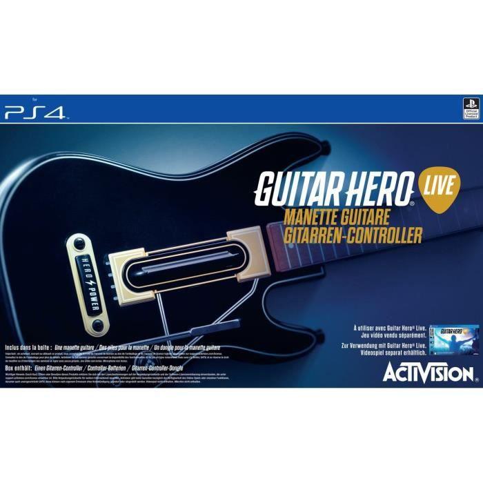 jeux pc video console accessoires guitar hero live guitare seule pour ps f