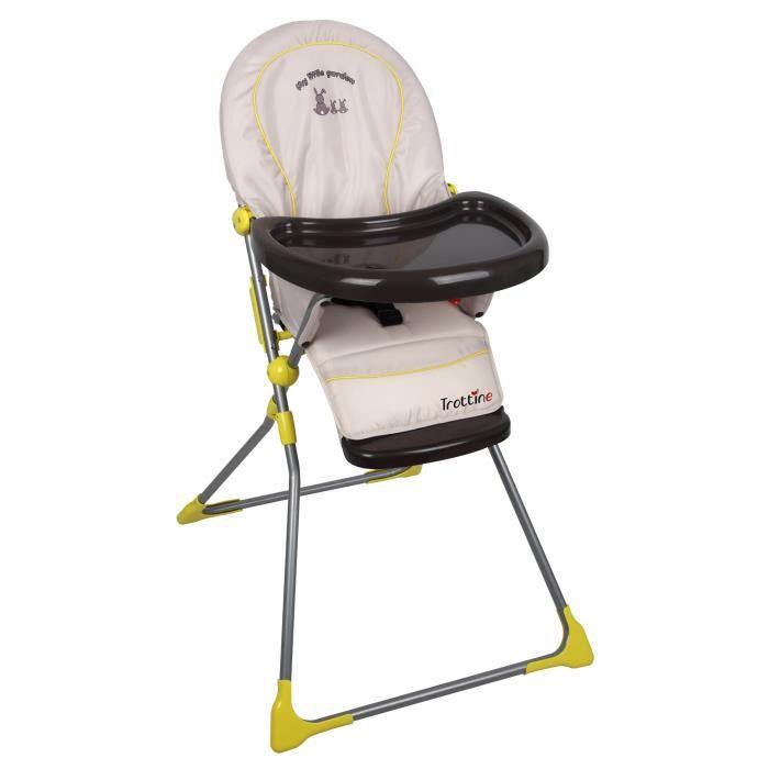 trottine chaise haute keppler little garden gris et jaune achat vente chaise haute. Black Bedroom Furniture Sets. Home Design Ideas