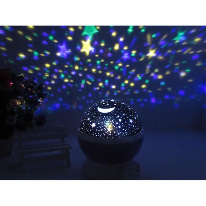 lampe veilleuse projecteur toiles lumi res ciel nuit romantique fete d coration chambre enfant. Black Bedroom Furniture Sets. Home Design Ideas