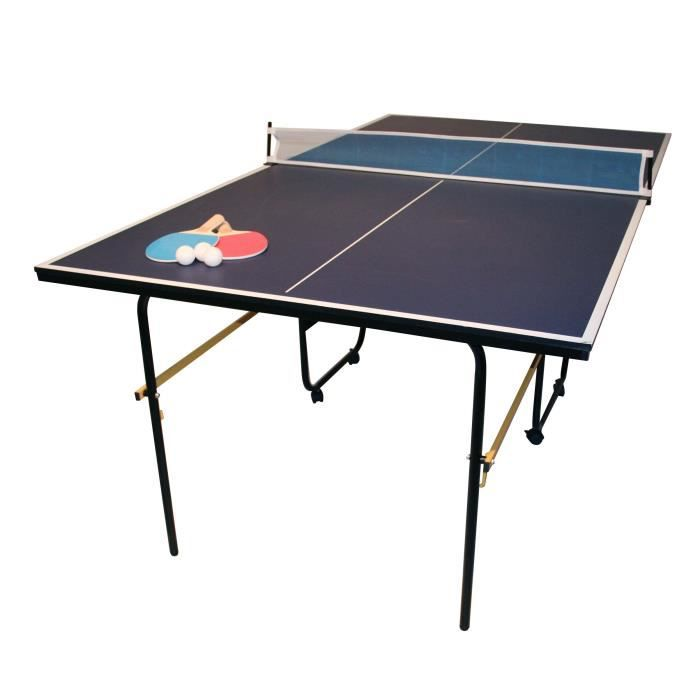 table de ping pong taille 3 4 pour enfant bleu 183 cm prix pas cher cdiscount. Black Bedroom Furniture Sets. Home Design Ideas