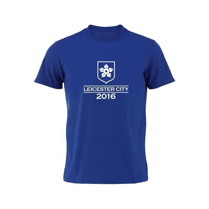 t shirt leicester bleu rayons