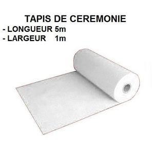 Tapis de ceremonie blanc